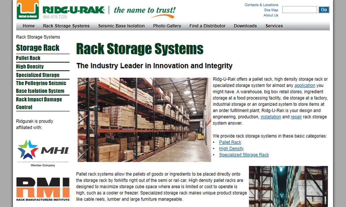 Ridg-U-Rak®, Inc.