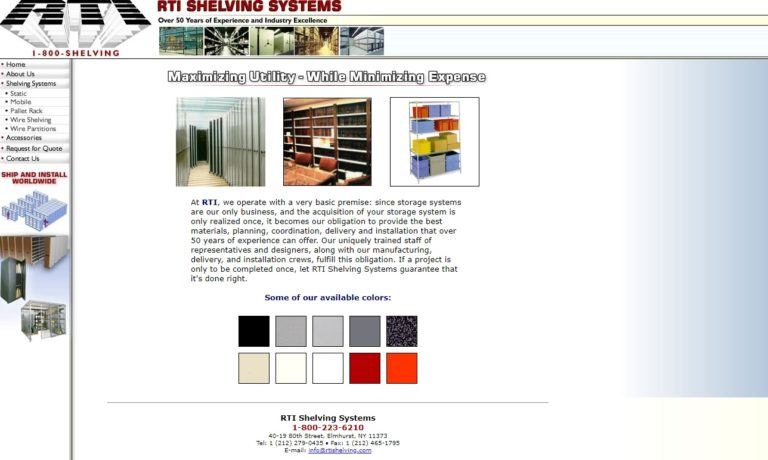 RTI Shelving Systems